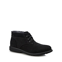 Hush Puppies - Black Leather 'Beauceron' Chukka Boots