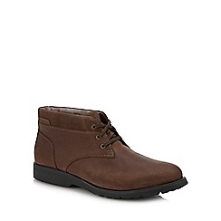 Hush Puppies - Brown Leather 'Beauceron' Chukka Boots