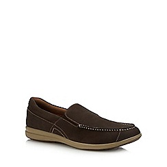 Hush Puppies - Tan Suede 'Runner' Slip On Shoes