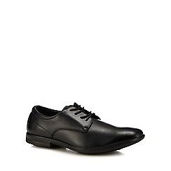 Hush Puppies - Black leather 'Cale' Derby shoes
