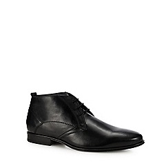 Hush Puppies - Black leather 'Bertrand' chukka boots