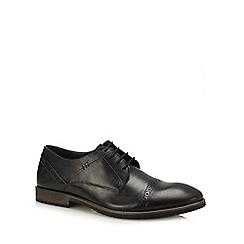 Hush Puppies - Black leather 'Craig Luganda' Derby shoes