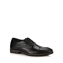 Hush Puppies - Black leather Derby shoes