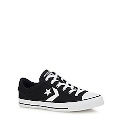 Converse - Black canvas 'Star Plater' trainers
