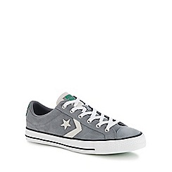 Converse - Grey suede 'Star Plater' trainers