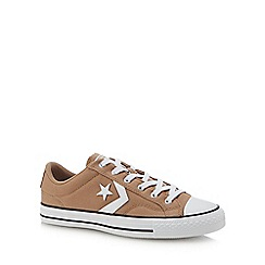 Converse - Tan canvas 'Star Player' trainers