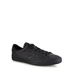 Converse - Black leather 'Star Plater' trainers