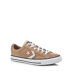 Converse - Tan suede 'Star Player' trainers