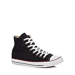 Converse - Black canvas 'Chuck Taylor All Star' hi-top trainers