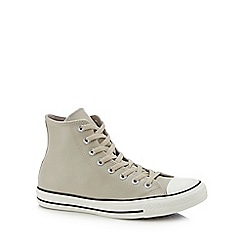 Converse - Natural leather 'Chuck Taylor All Star' high tops trainers