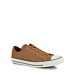 Converse - Tan leather 'Chuck Taylor All Star' trainers