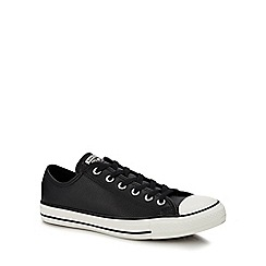 Converse - Black leather 'Chuck Taylor All Star' trainers