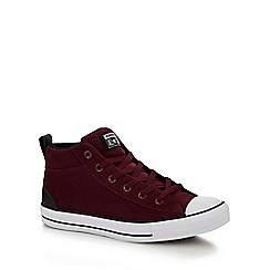 Converse - Maroon Suede 'Chuck Taylor All Star' high tops trainers