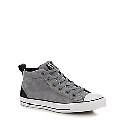 Converse - Grey Suede 'Chuck Taylor All Star' high tops trainers