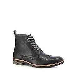 Lotus Since 1759 - Black leather 'Aldridge' brogue boots