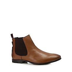 Ben Sherman - Tan leather 'lombard' chelsea boots