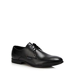 Ben Sherman - Black leather 'Ludgate' Derby shoes