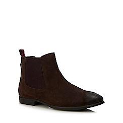 Ben Sherman - Dark brown suede 'Lombard' Chelsea boots