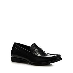 Ben Sherman - Black leather 'Spring' loafers