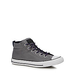 Converse - Dark grey canvas 'Chuck Taylor All Star' high tops trainers