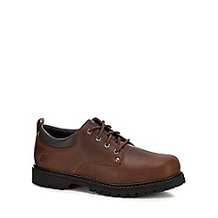 Skechers - Brown leather 'Tom Cats' lace up shoes