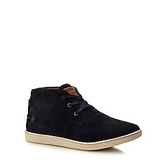 Original Penguin - Navy suede 'Love' chukka boots