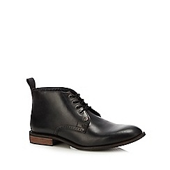 Original Penguin - Black leather 'tom' chukka boots