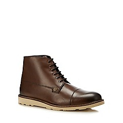 Original Penguin - Tan leather 'Carnaby' boots