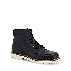 Jack & Jones - Navy 'Flint' lace up boots
