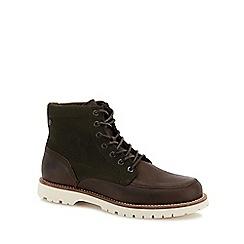 Jack & Jones - Khaki 'Flint' lace up boots