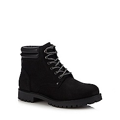 Jack & Jones - Black Leather 'Stoke' Lace Up Boots