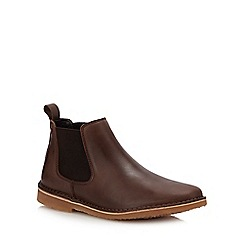 Jack & Jones - Brown Leather 'Leo' Chelsea Boots