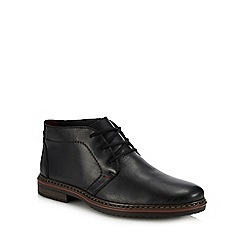 Rieker - Black leather desert boots