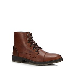 Rieker - Tan leather lace up boots