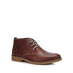 Rieker - Dark tan leather chukka boots