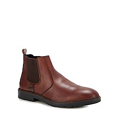 Rieker - Dark tan leather chelsea boots