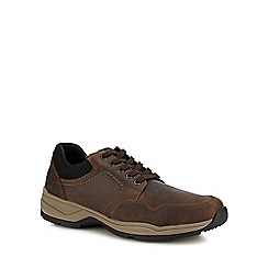 Rieker - Taupe leather lace up shoes