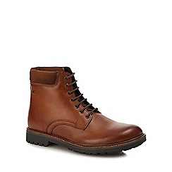 Base London - Tan leather 'Elk' lace up boots