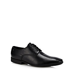 Base London - Black leather 'Tyne' Derby shoes