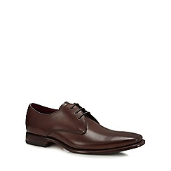 Loake - Dark brown leather 'Bressler' Derby shoes