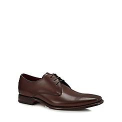 Loake - Dark brown leather 'Bressler' Derby shoes