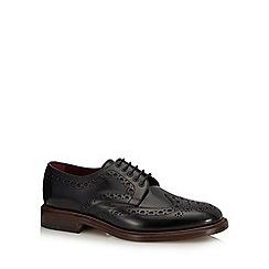 Loake - Black leather 'Dawson' brogues