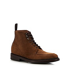 Loake - Brown suede 'Anglesey' lace up boots