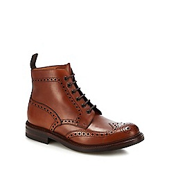 Loake - Brown leather 'bedale' brogue boots