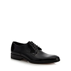 Loake - Black patent leather 'Bow' Derby shoes