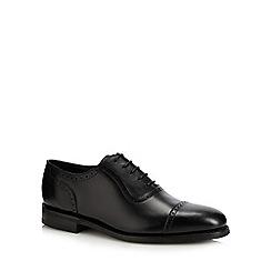 Loake - Black leather 'Fleet' brogues