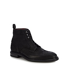 Loake - Black leather 'Crow' lace up boots