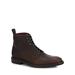 Loake - Brown leather 'Crow' lace up boots