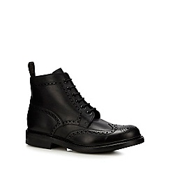 Loake - Black Leather 'Bedale' brogue boots