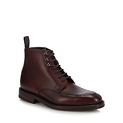 Loake - Plum leather 'Anglesey' lace up boots
